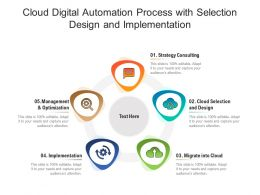 Cloud Digital Automation Process With Selection Design And Implementation