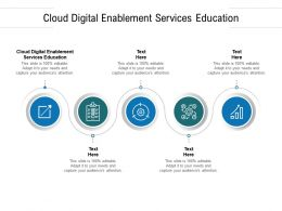 Cloud Digital Enablement Services Education Ppt Summary Graphics Cpb