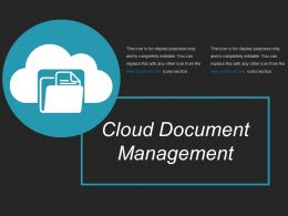 Cloud Document Management Ppt Images