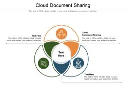 Cloud Document Sharing Ppt Powerpoint Presentation Portfolio Infographics Cpb