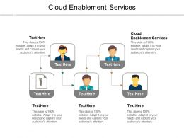 Cloud Enablement Services Ppt Powerpoint Presentation Ideas Files Cpb