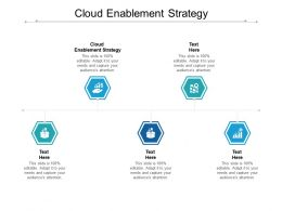 Cloud Enablement Strategy Ppt Powerpoint Presentation Show Outfit Cpb