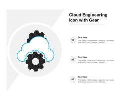 Cloud Engineering Icon With Gear