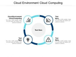 Cloud Environment Cloud Computing Ppt Powerpoint Presentation Slides Background Image Cpb