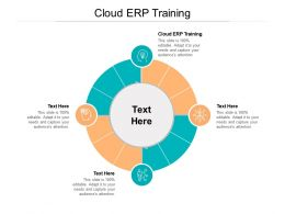Cloud ERP Training Ppt Powerpoint Presentation Diagram Graph Charts Cpb
