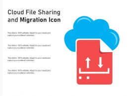 Cloud File Sharing And Migration Icon