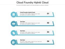 Cloud Foundry Hybrid Cloud Ppt Powerpoint Presentation Show Gallery Cpb