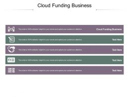 Cloud Funding Business Ppt Powerpoint Presentation Summary Deck Cpb