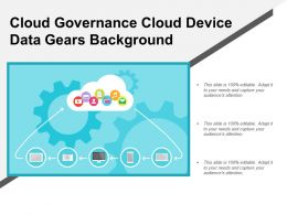 Cloud Governance Cloud Device Data Gears Background