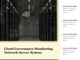 Cloud Governance Monitoring Network Server System