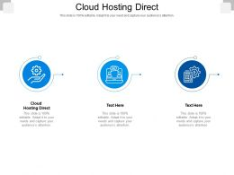 Cloud Hosting Direct Ppt Powerpoint Presentation Infographics Aids Cpb