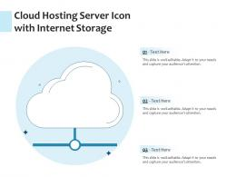 Cloud Hosting Server Icon With Internet Storage