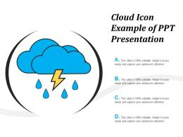 Cloud Icon Example Of Ppt Presentation