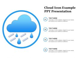 Cloud Icon Example Ppt Presentation