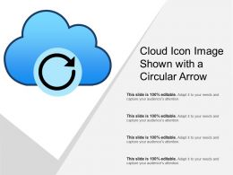 Cloud Icon Image Shown With A Circular Arrow