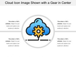Cloud Icon Image Shown With A Gear In Center