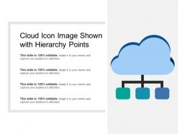 Cloud Icon Image Shown With Hierarchy Points