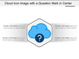 Cloud Icon Image With A Question Mark In Center