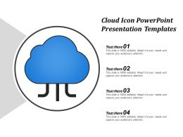 Cloud Icon Powerpoint Presentation Templates