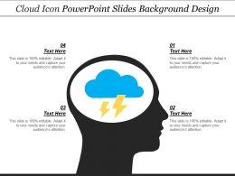 Cloud Icon Powerpoint Slides Background Design