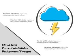 Cloud Icon Powerpoint Slides Background Designs