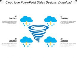 Cloud Icon Powerpoint Slides Designs Download