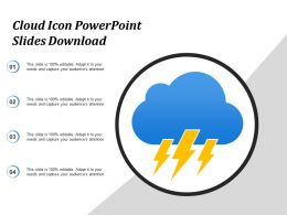Cloud Icon Powerpoint Slides Download
