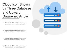 Cloud Icon Shown By Three Database And Upward Downward Arrow