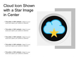 Cloud Icon Shown With A Star Image In Center