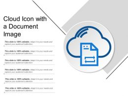 Cloud Icon With A Document Image