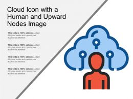 Cloud Icon With A Human And Upward Nodes Image
