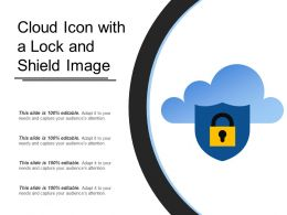 Cloud Icon With A Lock And Shield Image