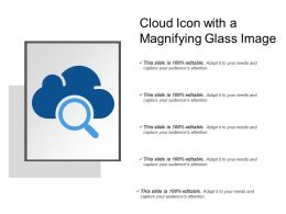 Cloud Icon With A Magnifying Glass Image