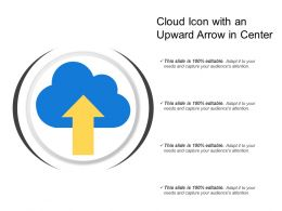 Cloud Icon With An Upward Arrow In Center