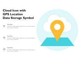 Cloud Icon With GPS Location Data Storage Symbol