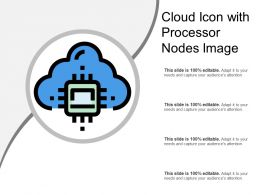 Cloud Icon With Processor Nodes Image