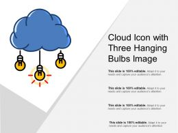 Cloud Icon With Three Hanging Bulbs Image