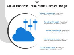 Cloud Icon With Three Mode Pointers Image