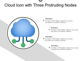 Cloud Icon With Three Protruding Nodes