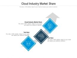 Cloud Industry Market Share Ppt Powerpoint Presentation Slides Deck Cpb