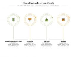 Cloud Infrastructure Costs Ppt Powerpoint Presentation Portfolio Graphics Download Cpb