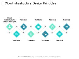 Cloud Infrastructure Design Principles Ppt Powerpoint Presentation Layouts Background Image Cpb