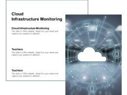 Cloud Infrastructure Monitoring Ppt Powerpoint Presentation Inspiration Graphics Cpb
