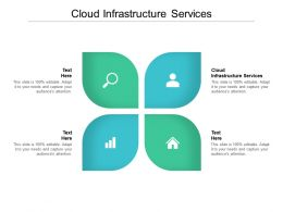 Cloud Infrastructure Services Ppt Powerpoint Presentation Icon Graphics Example Cpb