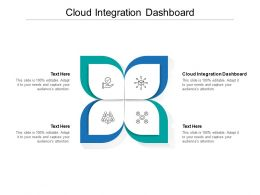 Cloud Integration Dashboard Ppt Powerpoint Presentation Show Slide Cpb