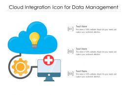 Cloud Integration Icon For Data Management