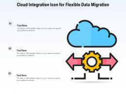 Cloud Integration Icon For Flexible Data Migration