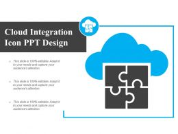 Cloud Integration Icon Ppt Design