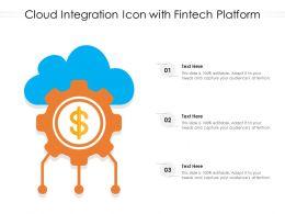 Cloud Integration Icon With Fintech Platform