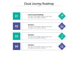 Cloud Journey Roadmap Ppt Powerpoint Presentation Layouts Design Templates Cpb